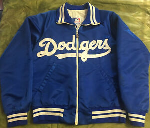 LOS ANGELES LA DODGERS 1980s 90s Script SEWN Full Zip STARTER Jacket jersey M