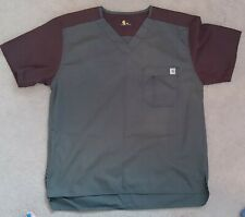 Carhartt Scrub Top Medium Green/Brown