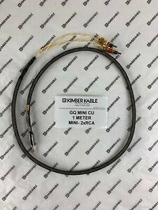 Kimber Kable GQ MINI CU 1 Meter with MINI - 2xRCA connectors (retail $109)