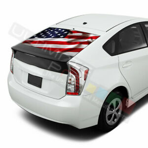 Flags Decal Window See Thru Stickers Perforated for Toyota Prius 2017 2018 2019