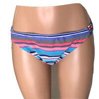 No Boundaries Multicolor Bikini Bottom Size XL 15-17 Striped Bottom Swimsuit