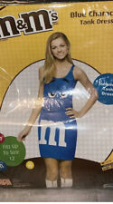 M&M's costume tank dress one size fits up to size 12 Blue Tween Teen Kids Adult