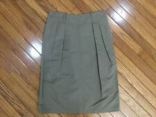 Jil Sander Silk Blend Pleated A Line Skirt Size 38