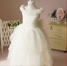 Robe de princesse/cérémonie/baptême/mariage/communion/anniversaire (026)