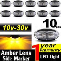 10X 10V-30V AMBER CLEARANCE LIGHTS SIDE MARKER LED TRAILER TRUCK BOAT LAMP