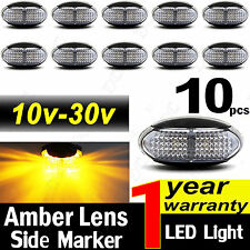 10X 10V-30V AMBER CLEARANCE LIGHTS SIDE MARKER LED TRAILER TRUCK BOAT LAMP