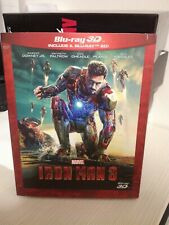 IRON MAN 3 (BLU-RAY 3D + BLU-RAY) ITALIANO,  COME NUOVO