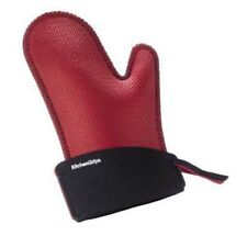 "Kitchen Grips 11"" Large Chef's Oven Mitt - Red / Black"