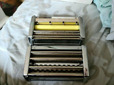 2 Omc Marcato Pasta Makers Vintage Italy Heavy Duty without cranks Vtg kitchen