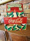 "Vintage 1940 CHRISTMAS Coca-Cola, ""6-Pack"" Cardboard Carrier"
