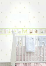 (4) New Rolls NextWall Juv19501 Abc Nursery Baby Wallpaper prepasted