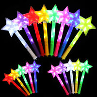 New Star Shape Light Up Stick LED Concert Party Decorative Glowing Wands Rod