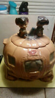 Bruch McCoy USA W32 pottery Cinderella stagecoach twin mouse pumpkin