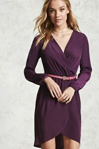 Forever 21 F21 Surplice Belted Dress Small