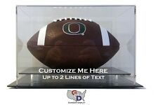 Custom Desk or Counter Top Football Display Case Acrylic Create Your Own Text