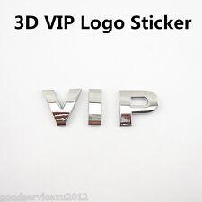 Silver 100% Metal 3D VIP Emblem Logo Auto Body Decoration Sticker For Volkswagen