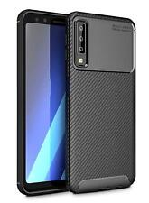 Anti-choque a prueba de impactos Fibra De Carbono Estuche Cubierta para Samsung Galaxy A7 2018 A750F