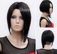 100% Real hair! New Fashion Sexy Women's Short Black Straight Human Hair Wigs