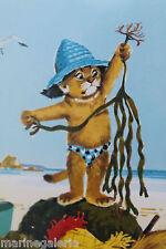 Caroline décoration fille mer plage pêche à pied mini poster Probst à encadrer