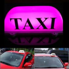 DC 12V Taxi Top Sign Cab Roof Topper Car Super Bright Light Lamp 5W PINK Taxi