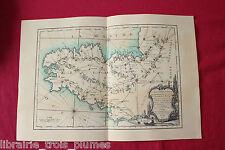 ✒ CARTE 1765 Guide des voyageurs - BRETAGNE