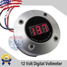 """2"""" Digital Voltmeter w Neon Red LED Car Volt Gauge 12V/24V DC Electric Battery"""