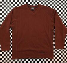 VTG 90s Nike V Neck Ribbed LS Pullover Sweatshirt Mens Size Medium Burgundy