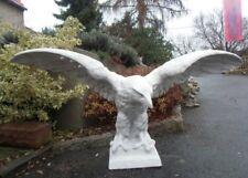 Gartenfigur, XXL Adler, Steinfigur, B.181 cm, H.84 cm, Statue, Steinguss, Vögel