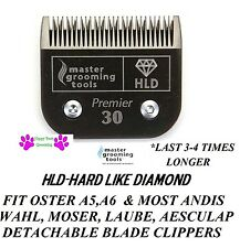HLD(LIKE TITANIUM)PRO Pet Dog Grooming 30 Blade*Fit Andis,Oster A5/AG/BG Clipper