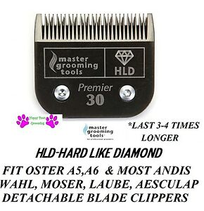 HLD(LIKE TITANIUM)PRO Pet Grooming 30 Blade*Fit Andis AGC,Oster A5 A6 Clippers