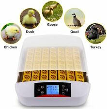 56 Egg Incubator Fully Automatic LED Digital Turning Hatcher Temperature Control