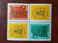 DDR ( East Germany ) - 1964 -  Leipzig Fair  Block of 4 Stamp Set - MNH