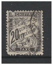 France - 1882, 20c Black Postage Due - Used - SG D286