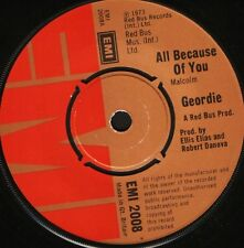 """GEORDIE all because of you/ain't it just like a woman EMI 2008 uk 7"""" WS EX/"""