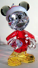 LOVELY AUTHENTIC SWAROVSKI MICKEY MOUSE CHRISTMAS ORNAMENT MODEL # 5004690