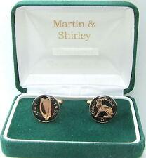 1956 Irlanda Gemelli VECCHIO Irish 3D monete in nero e oro