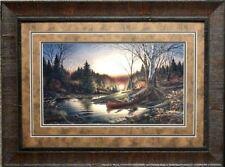 Terry Redlin Morning Solitude Camping Sunset  Art Print-Framed