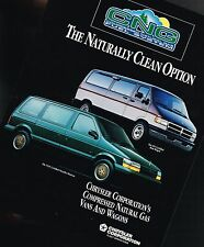 1994 Chrysler CNG Vehicles Brochure: MiniVan,Ram Wagon, Dodge, Compressed Gas,