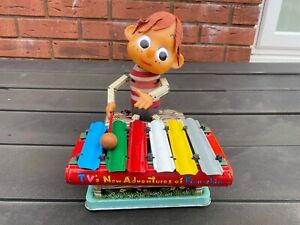 Rosko Tested Japan Pinocchio With Xylophone - Working Item Rare