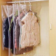 Hanging Vacuum Bag For Clothes Foldable Transparent Space Saving Organizer