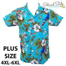 Turquoise Magnum Plus Size Mens Hawaiian Shirts Parrots