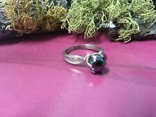 Ring 925 Sterling Silver*Size 6 *G190 Beautiful Vintage Hermatite Ball Gray Gems