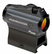 Sig Sauer Romeo4DR Compact Red Dot Sight, 1X20mm, 2 MOA Red Dot 65 MOA: SOR41111
