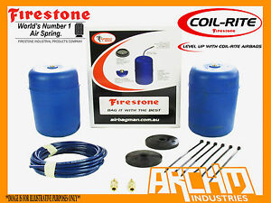REAR FIRESTONE COILRITE AIR SUSPENSION ASSIST BAGS FOR NISSAN PATROL GU(Y61) STD