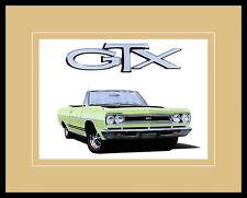 Chrysler Historical Prints 1968 Plymouth GTX Convertible 440 Bild Druck & Rahmen