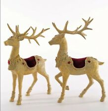 Katherine's Collection Set Of 2 Large Royal Reindeer Tabletop 23-923554 New Gold