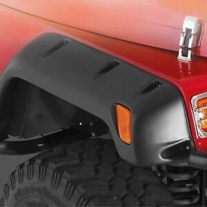 "Smittybilt 6"" Textured Black Rear Driver Flare for Jeep Wrangler 1987-9517191-04"