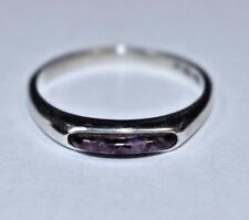 Carolyn Pollack Sterling Silver Purple Mosaic Gemstone Stacking Ring Sz- 8.75