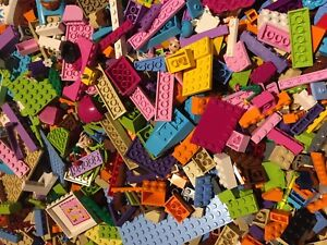 LEGO Friends 1/4Kg of Mixed Bricks Plates Parts & Pieces - Free TRACKED Postage