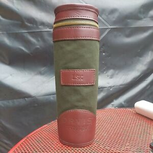 RARE Orvis by GOKEY Thermos Holder WINE HOLDER Whiskey Picnic Camping Travel USA
